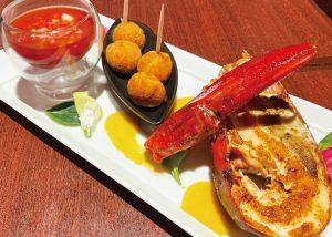 【俺のスパニッシュ】オマール海老の3種調理(ロースト、ガスパチョ、クロケッタ)