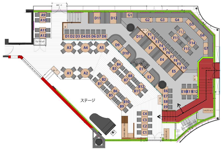 俺のGrill東京 座席図