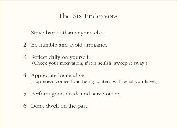 6 endeavors